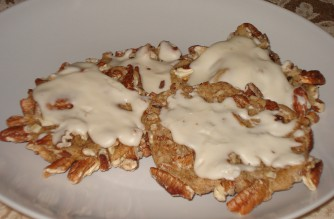RumNog Pecan Cookies