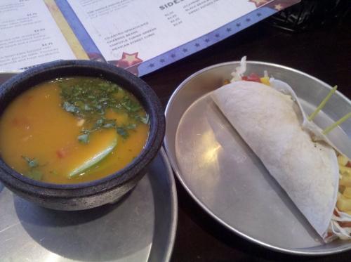 Vegan Tortilla Soup & Vegan Jerk Taco