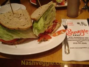 Carnegie Deli - Lettuce & Tomato Sandwich