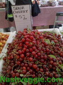 Sour Cherries at Tompkins Square Greenmarket