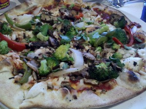 Wood-Roasted Vegetable Pizza with Follow Your Heart Mozzarella