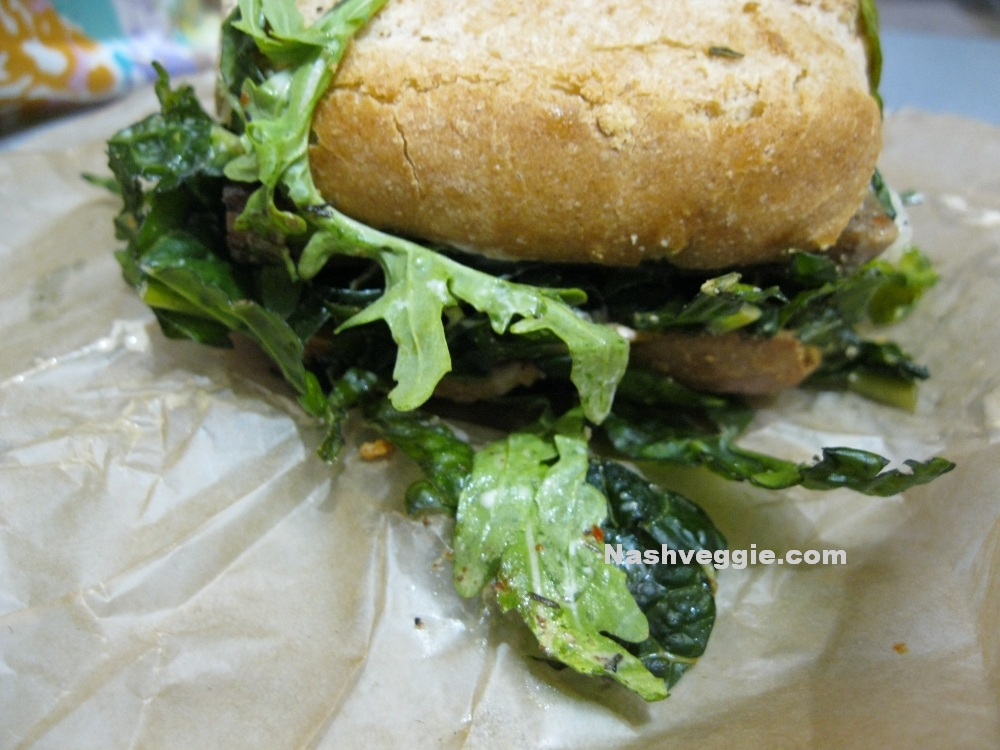 The Cinnamon Snail Vegan Food Truck - New York City - Maple Mustard Tempeh Sandwich