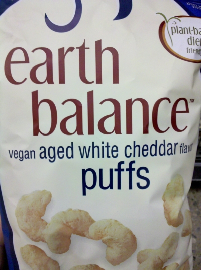 Nashveggie - Nashville Vegan - Earth Balance Vegan Cheddar Puffs