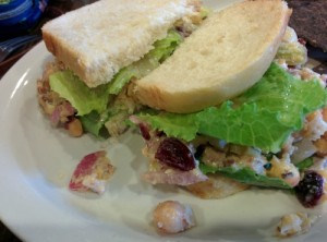 Chickpea Salad Sandwich - The Post East - Nashville Vegan Nashveggie